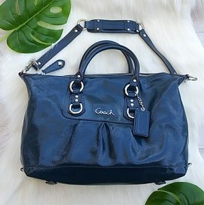 COACH Colbalt Blue Ashley Leather Satchel